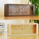 Lemnos Yokan 温湿度計付置き時計 LC11-06 置時計/置き時計/おき時計/デザイン時計/熱中症対策/温度計/湿度計/北欧/インテリア時計