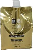 熊野油脂 馬油シャンプー 詰替 1000ml (ノンシリコンシャンプー 詰め替え用)(4513574016859)