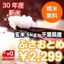 【30年産 新米入荷!】千葉県産 ふさおとめ玄米5kg 送料無料♪精米無料♪※送料無料地域に除外があります※北海道・九州:+400円