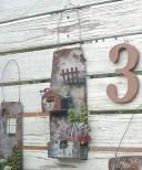 メタルプランター ダブルハウス アンティーク風 azi-azi アジアジ 壁掛けプランター ガーデン 雑貨 ハンギング ポット ガーデニング雑貨