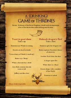 Upscale Thrones Drinking Game Season 4 Game Drinking Game Thrones Infographic Drinking Game Thrones Game Thrones Drinking Game Tyrion