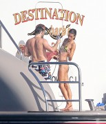 3db13f113608887 Alessandra Ambrosio cools off on the back of a Yacht in St Barts, Jan 2