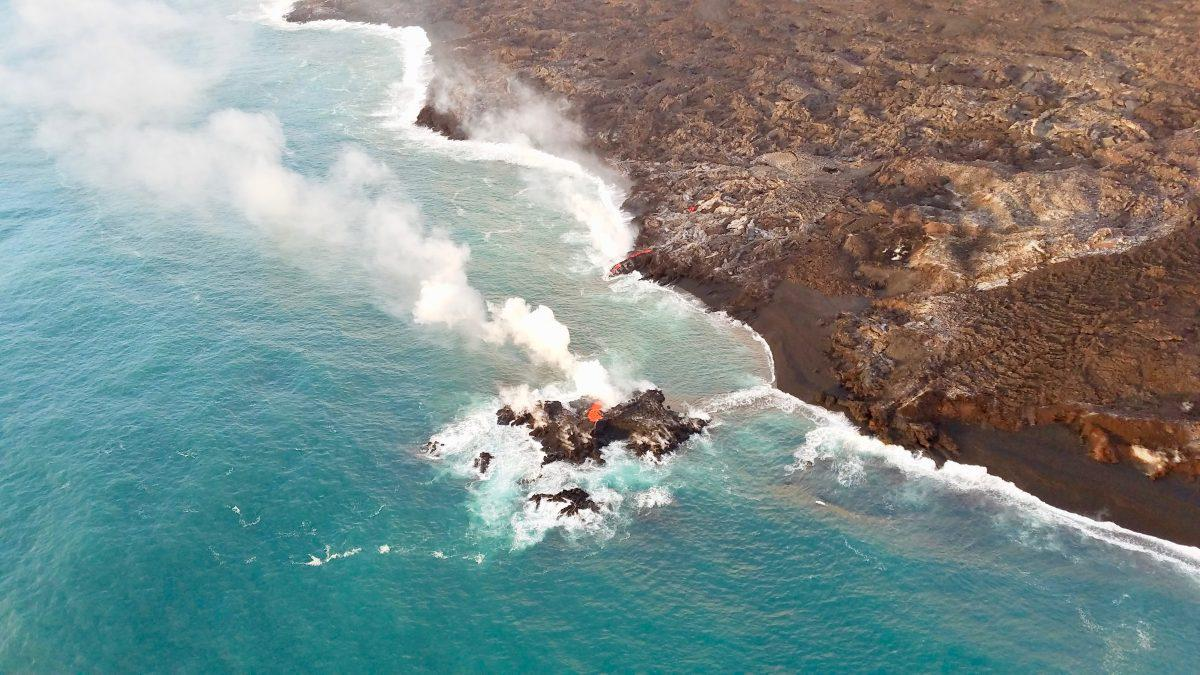 Hawaii s Kilauea Volcano Formed A New Tiny Hawaiian Island