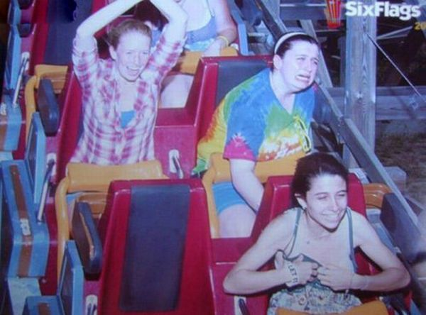 People From Roller Coasters ThumbPress 16 Winners and Losers from Roller Coasters (62 Pics)