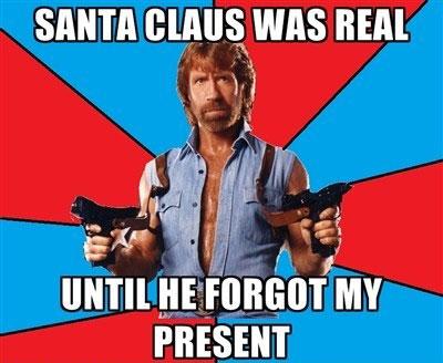 Santa vs. Chuck Norris wtf cool stuff meme funny pics fails funny pics  Top 25 Santa Memes & Captions (Funny Pics)