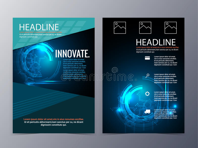 Business And Technology Brochure Design Template Vector Tri fold     Download Business And Technology Brochure Design Template Vector Tri fold  Stock Vector   Illustration of