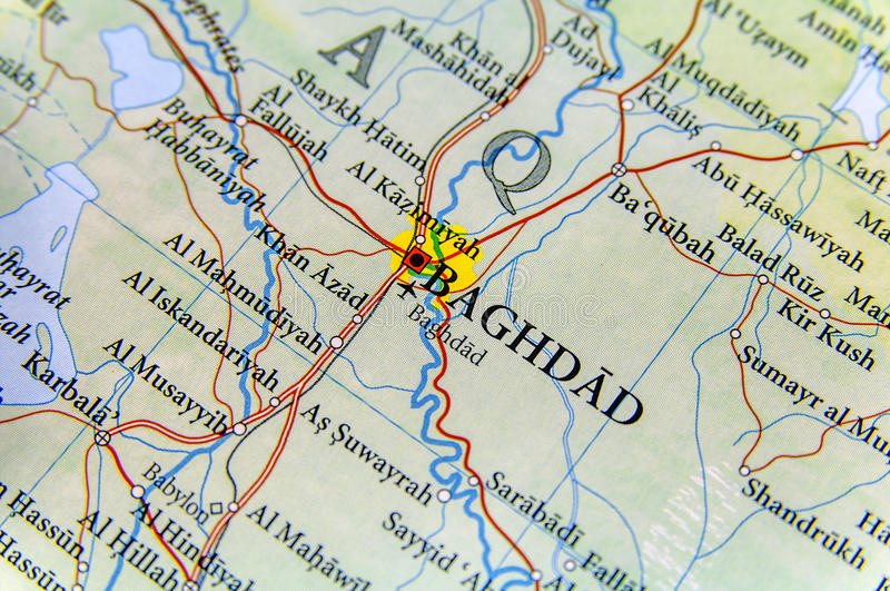 Geographic Map Of Iraq With Capital Baghdad City Stock Photo   Image     Download Geographic Map Of Iraq With Capital Baghdad City Stock Photo    Image of location