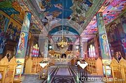 Fresco at Greek Orthodox monastery
