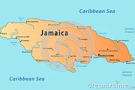 jamaica map 13644136