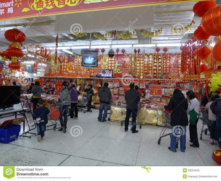 Editorial Stock Photo 2012 Chinese New Year Shopping In Walmart. 1300 x 1065.Walmart Photo New Years Cards
