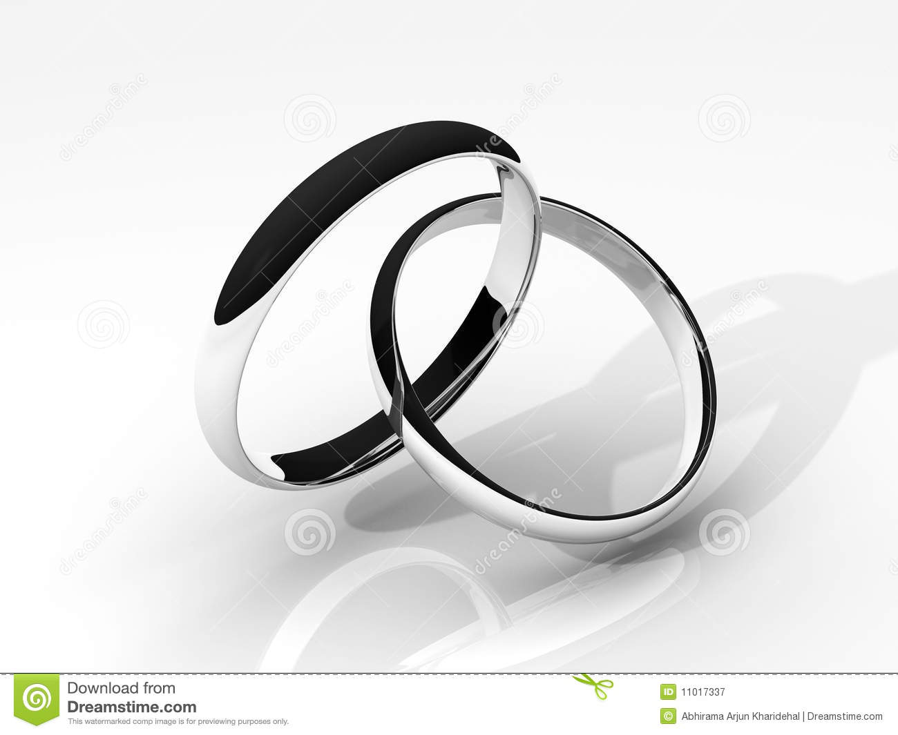 royalty free stock photography 3d silver wedding rings image silver wedding rings 3D Silver Wedding Rings