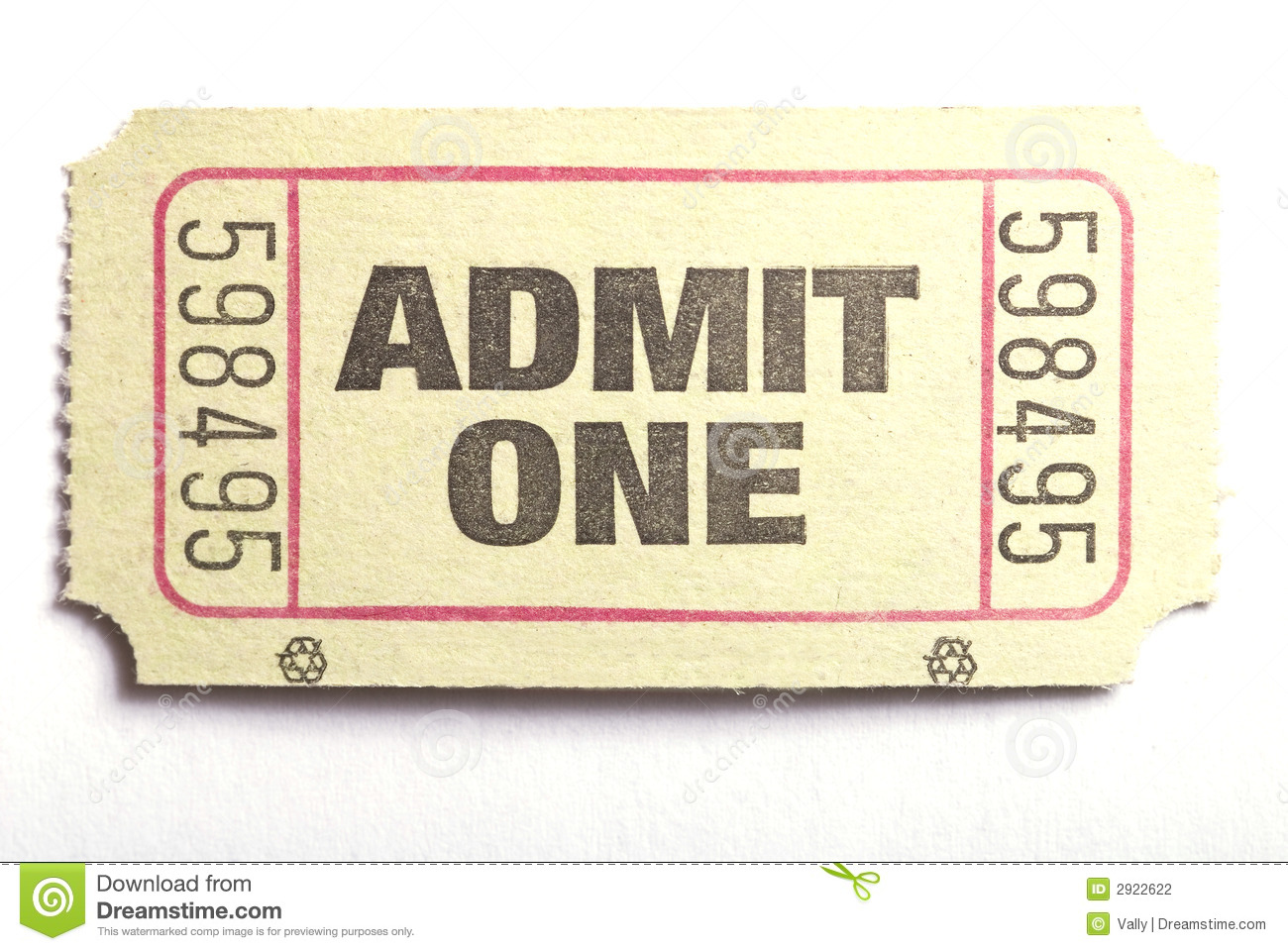 carnival admit one ticket template