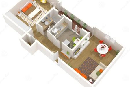 apartment interior design 3d floor plan 18595989