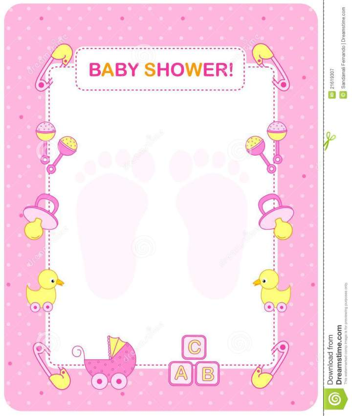baby shower card for girls baby shower greetings in spanish view