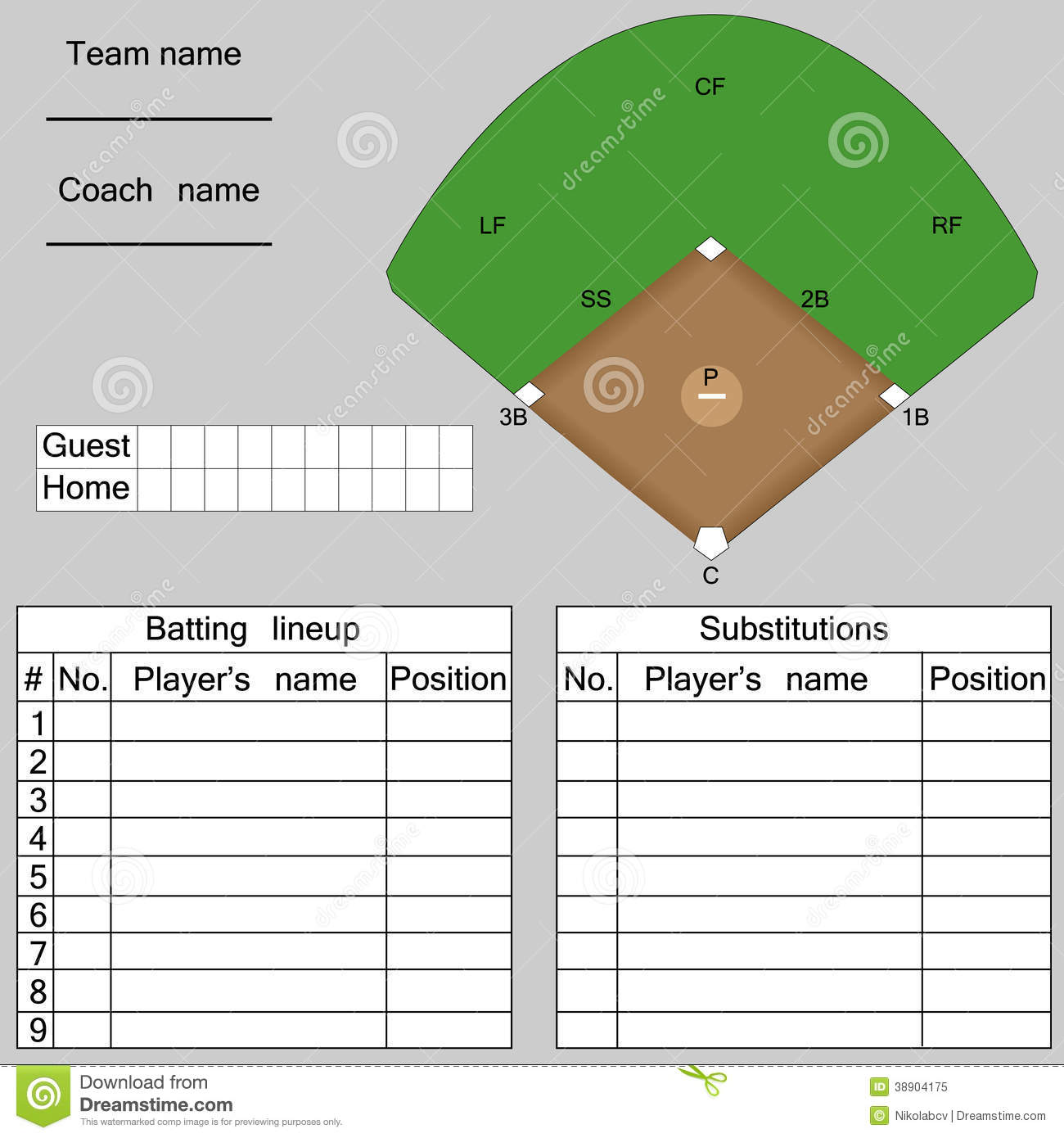 player roster template