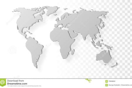 blank grey abstract world map shadow template transparent background eps vector 79698662