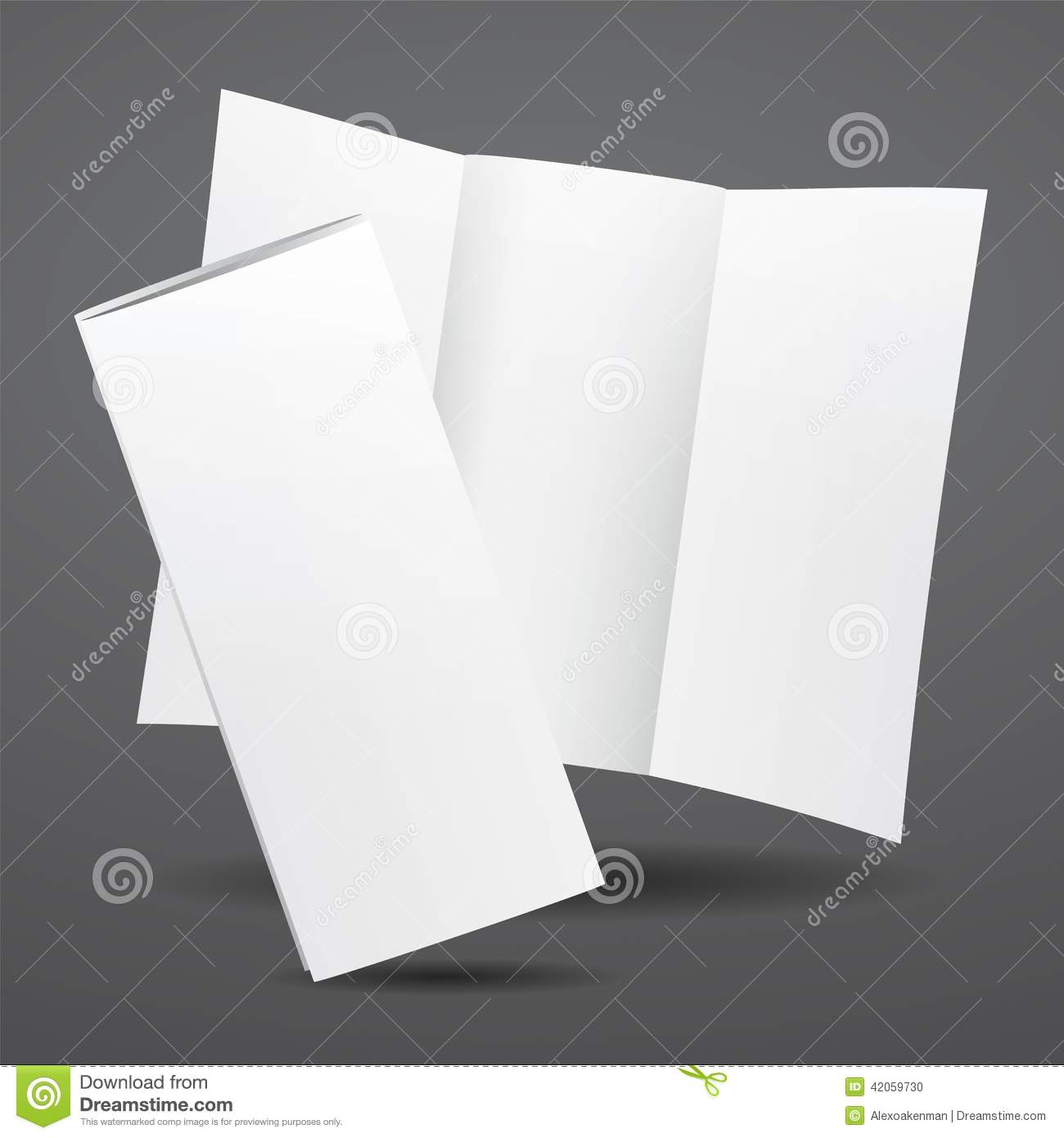 Blank Vector White Tri Fold Brochure Template  Stock Vector     Download Blank Vector White Tri Fold Brochure Template  Stock Vector    Illustration of branding