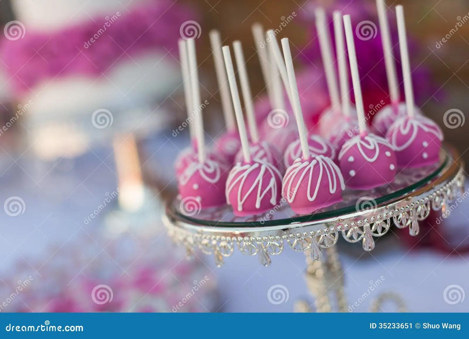 stock image cake pops cupcakes wedding image wedding cake pops Cake pops and cupcakes
