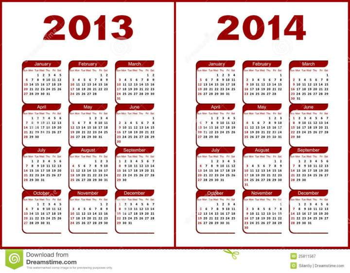 Printable Calendars 2013 2014.6 Official New Year Congratulations 2014