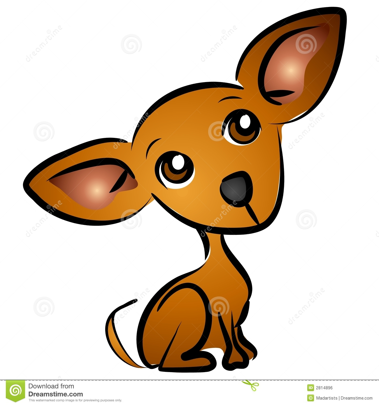Cute Cartoon Dogs Clip Art
