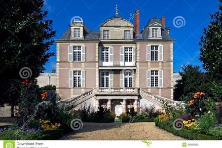 castle sainte gemmes sur loire loire valley france region pays de la danjou department maine et village former 36868860