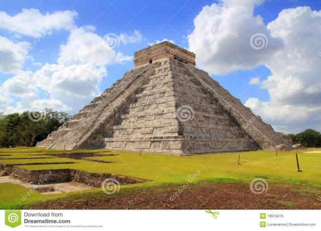 Chichen Itza Kukulcan Mayan Pyramid El Castillo Royalty Free Stock