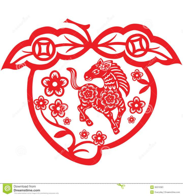 Stock Image Chinese New Year Horse.7 Cards For Chinese New Year 2014