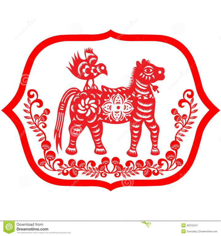 Royalty Free Stock Photography Chinese New Year Horse.7 Lunar Chinese New Year Card Design 2014