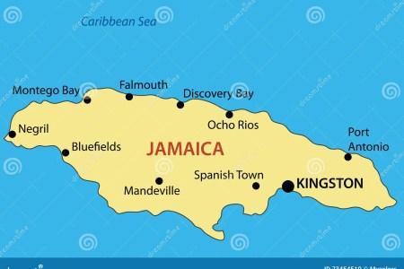 commonwealth jamaica map vector 73454510