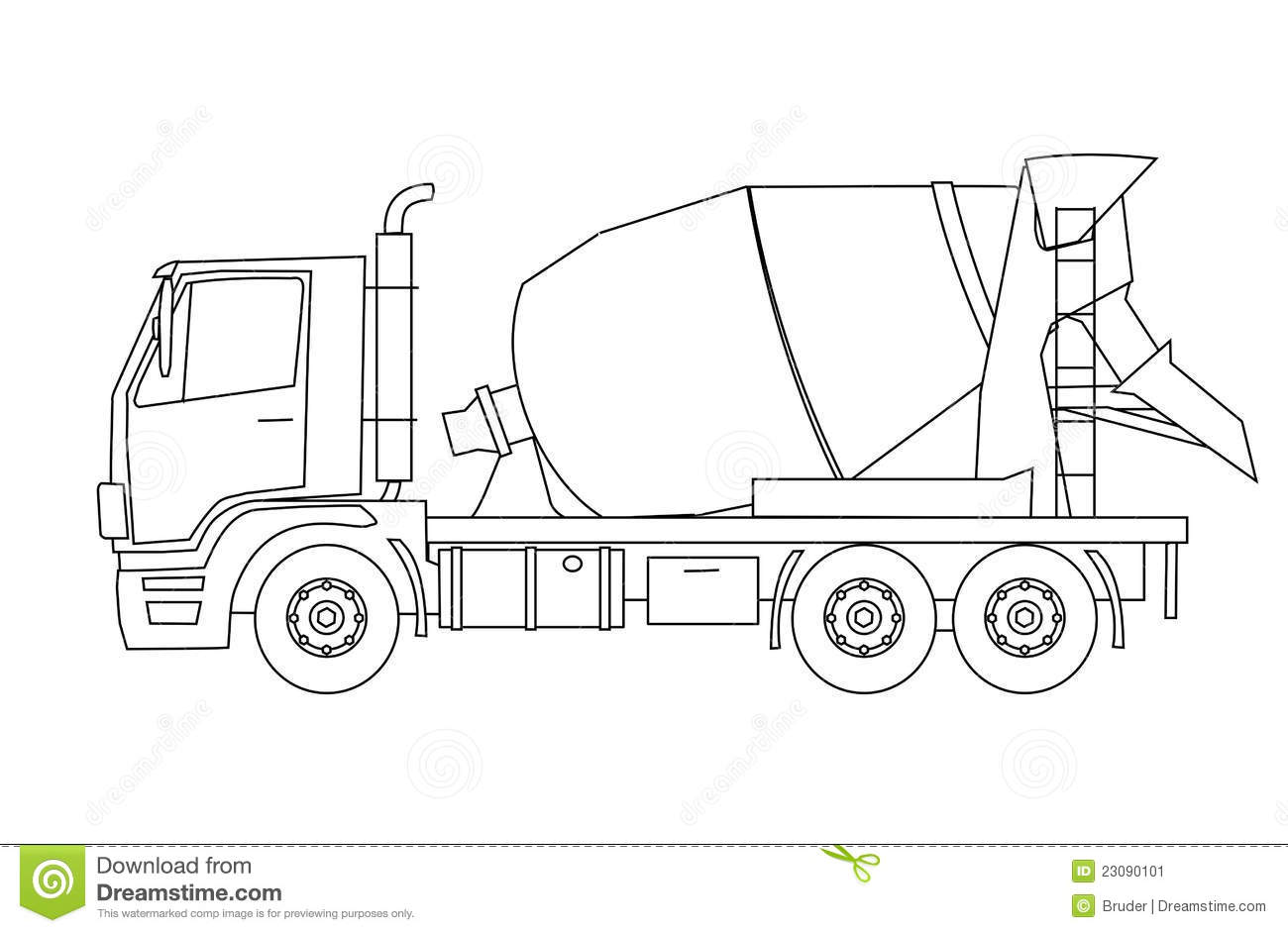 concrete mixer truck coloring pages - photo#27