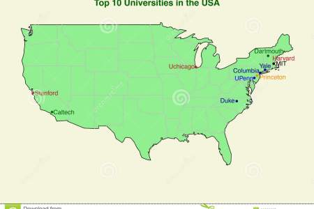 Map Usa Universities List And Location Map Of Universities In - Map of usa with universities