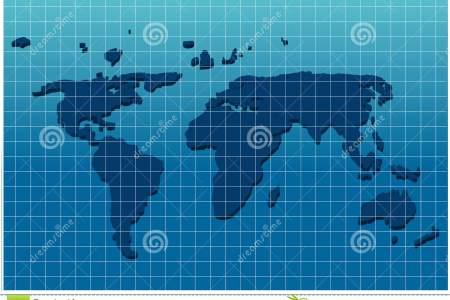 Map with grids dimensional world map grid paper color illustration continents oceans isolated 32719743 gumiabroncs Image collections