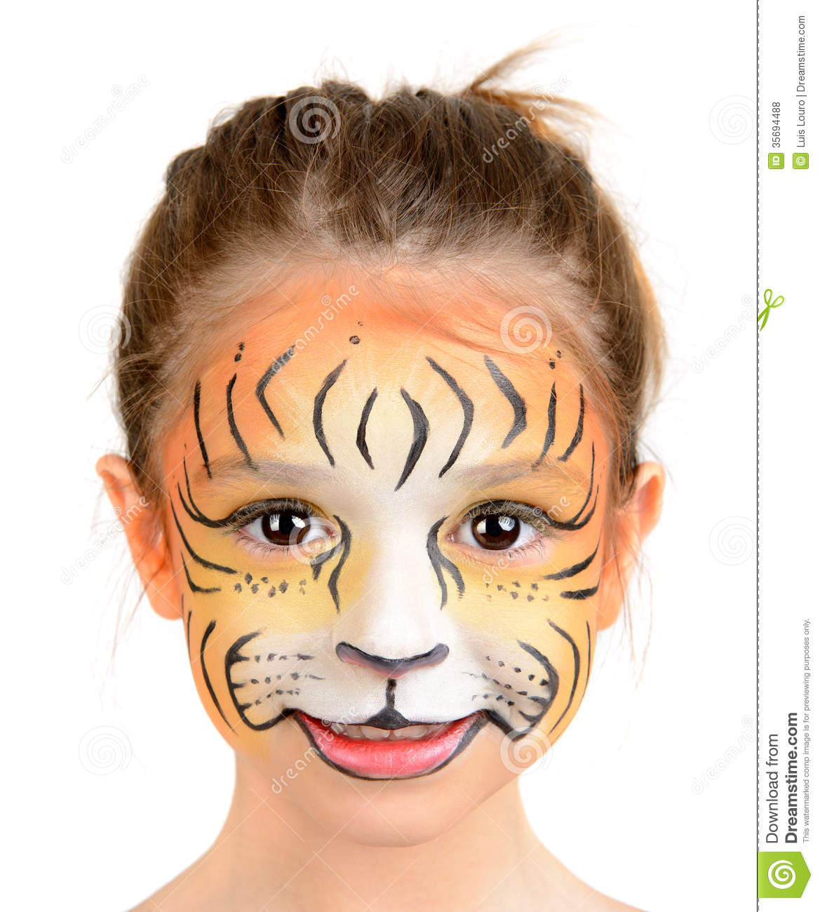 Easy tiger face paint - photo#23