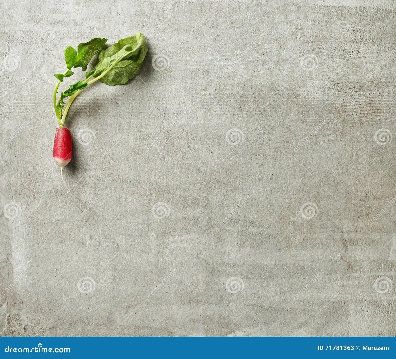 stock photo fresh raw radish gray kitchen table top view image gray kitchen table Fresh raw radish on gray kitchen table