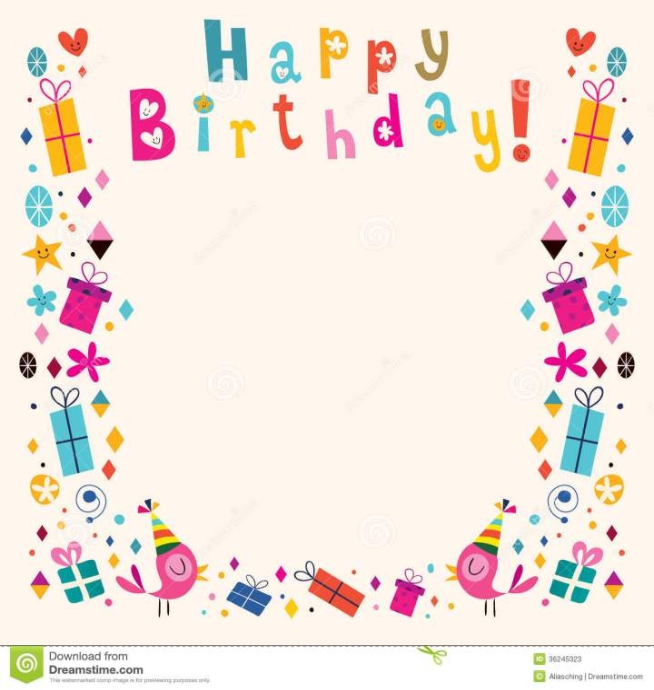 Happy Birthday Retro Style Happy Birthday Border Retro