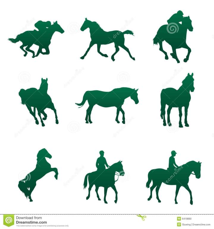 Horse Silhouettes  For Your Design Idea.7 Sample Greetings For Happy New Year 2014