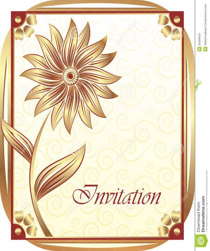 The Invitation Card for beautiful invitation template