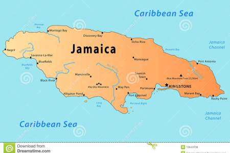 jamaica map 13644136