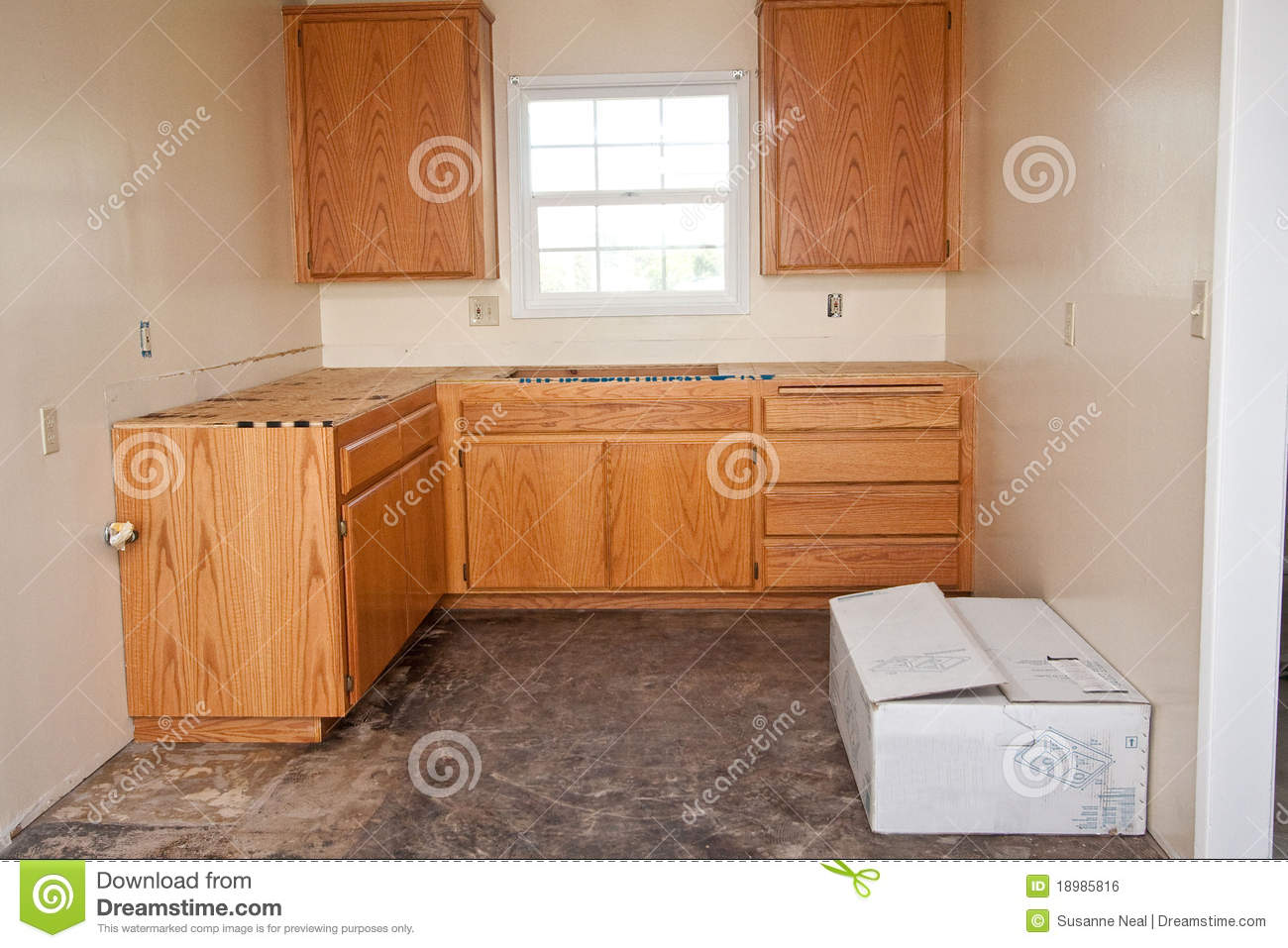 stock photography kitchen cabinets countertop image kitchen cabinet countertop Kitchen cabinets without countertop Royalty Free Stock Image