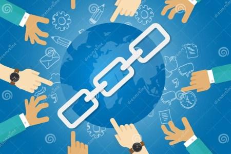le monde d optimisation de moteur de recherche de seo de btiment de lien relient des mains bleues 67652792