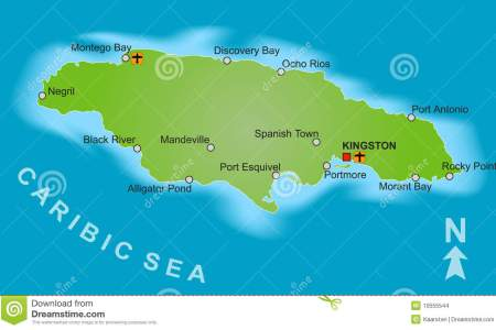 map jamaica 10555544