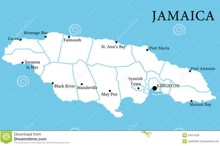 map jamaica 24914228
