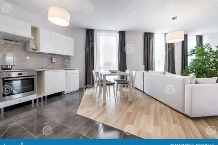 modern interior design living room kitchen open space 44126399
