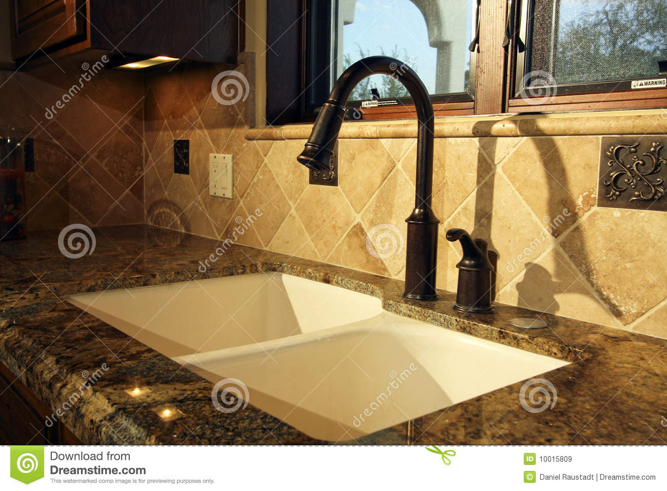 kitchen sink kitchen sinks and faucets Modern Kitchen Sink and Fixtures Royalty Free Stock Images
