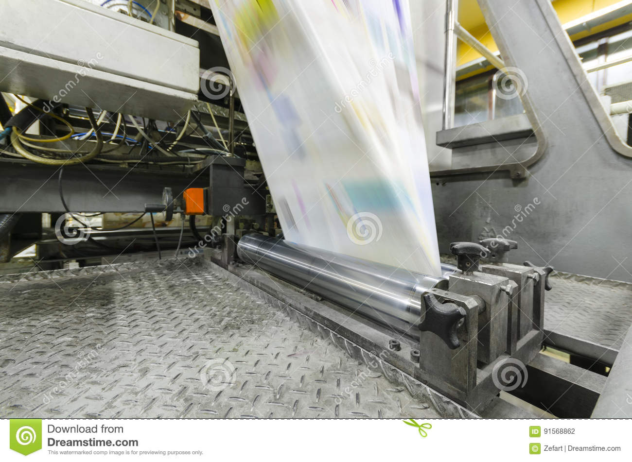 Printing Machine In Production Stock Photo   Image of brochure     Download comp