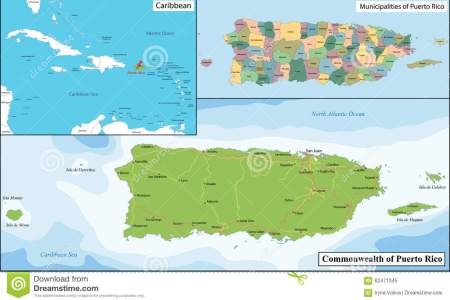 puerto rico map stock vector image 62471345