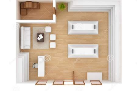 retail store interior floorplan d top view 38889831
