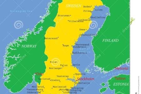 Map Of Sweden With Major Cities - Sweden map sundsvall