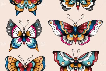 tatoo erflies set old school tattoo art design decoration 43541647
