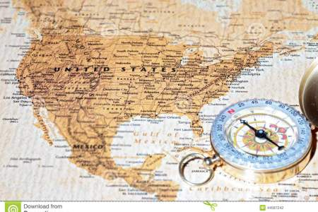 travel destination united states, ancient map with vintage